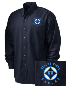 Valley Vista High School Eagles Embroidered Tall Men's Twill Shirt