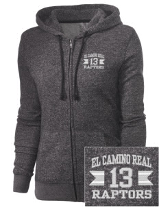El Camino Real High School Conquistodores Embroidered Women's Marled Full-Zip Hooded Sweatshirt