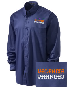 Valencia Elementary School Oranges Embroidered Men's Easy-Care Shirt