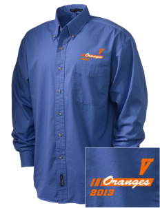 Valencia Elementary School Oranges Embroidered Men's Twill Shirt