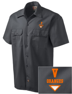 Valencia Elementary School Oranges Embroidered Dickies Men's Short-Sleeve Workshirt