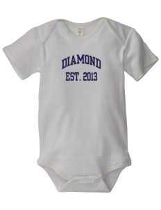 Diamond Elementary School Eagles Baby Zig-Zag Creeper