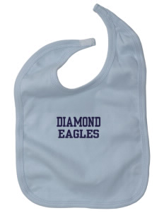 Diamond Elementary School Eagles Baby Interlock Bib