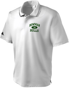 Bowman Elementary School Bulls adidas Men's ClimaLite Athletic Polo