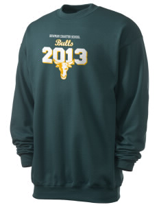 Bowman Elementary School Bulls Men's 7.8 oz Lightweight Crewneck Sweatshirt