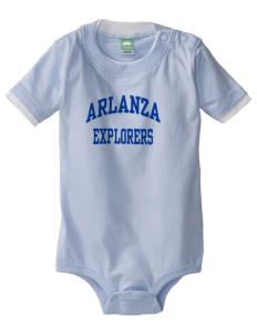 Arlanza Elementary School Explorers Baby One-Piece with Shoulder Snaps