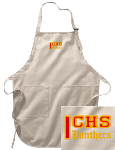 Corona High School Panthers Embroidered Full-Length Apron with Pockets