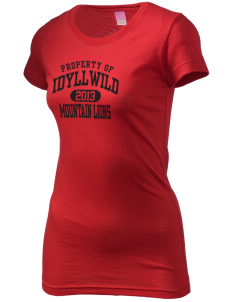 Idyllwild School Mountain Lions  Juniors' Fine Jersey Longer Length T-Shirt
