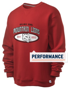 Idyllwild School Mountain Lions  Russell Men's Dri-Power Crewneck Sweatshirt