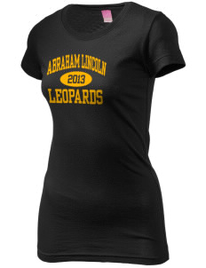 Abraham Lincoln Elementary School Leopards  Juniors' Fine Jersey Longer Length T-Shirt