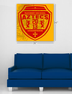 "Palm Desert High School Aztecs Wall Poster Decal 36"" x 36"""