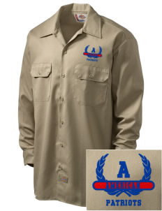 American High School Patriots Embroidered Dickies Men's Long-Sleeve Workshirt