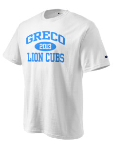 Greco Middle School Lion Cubs Champion Men's Tagless T-Shirt