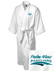 Palm View Elementary School Panthers Embroidered Terry Velour Robe