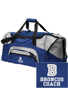 Broadus Elementary School Broncos Embroidered Colorblock Duffel Bag