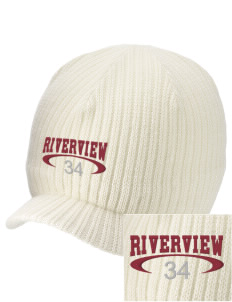 Riverview High School Rams Embroidered Knit Beanie with Visor