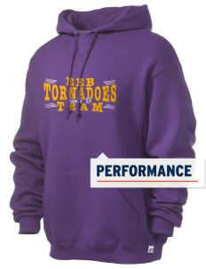 Emma E Booker Elementary School Tornadoes Russell Men's Dri-Power Hooded Sweatshirt