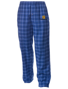 Georgetown Elementary School Indians Men's Button-Fly Collegiate Flannel Pant with Distressed Applique