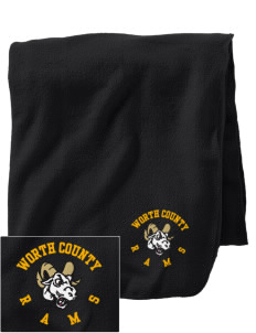 Worth County Primary School Rams Embroidered Holloway Stadium Fleece Blanket