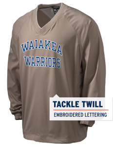 Waiakea High School Warriors adidas Men's ClimaProof V-Neck Wind Shirt with Tackle Twill
