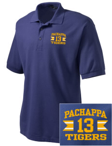 Pachappa Elementary School Tigers Embroidered Men's Silk Touch Polo