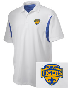 Pachappa Elementary School Tigers Embroidered Men's Back Blocked Micro Pique Polo
