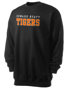 Edward Hyatt Elementary School Tigers Men's 7.8 oz Lightweight Crewneck Sweatshirt