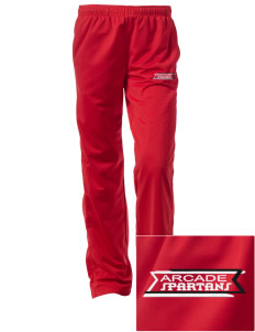 Arcade Middle School Spartans Embroidered Women's Tricot Track Pants