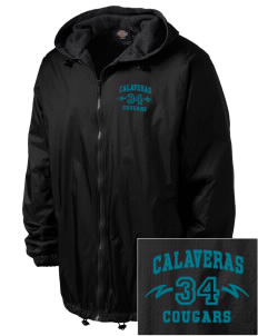 Calaveras Elementary School Cougars Embroidered Dickies Men's Fleece-Lined Hooded Jacket
