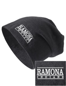 Ramona Junior High School Indians Embroidered Slouch Beanie