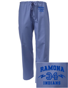Ramona Junior High School Indians Embroidered Scrub Pants