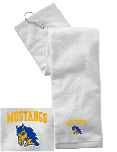 Milor Continuation Senior High School Mustangs Embroidered Hand Towel with Grommet