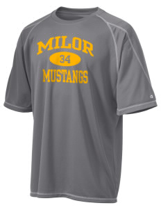 Milor Continuation Senior High School Mustangs Champion Men's 4.1 oz Double Dry Odor Resistance T-Shirt