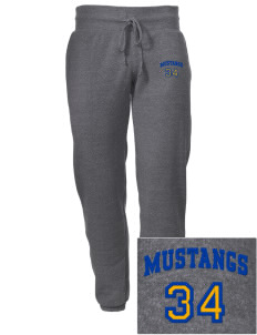 Milor Continuation Senior High School Mustangs Embroidered Alternative Men's 6.4 oz Costanza Gym Pant