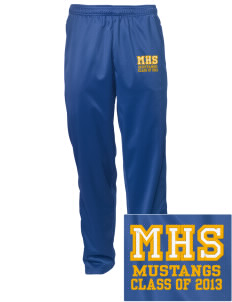 Milor Continuation Senior High School Mustangs Embroidered Men's Tricot Track Pants