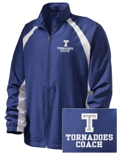 Trona Elementary School Tornadoes  Embroidered Men's Full Zip Warm Up Jacket