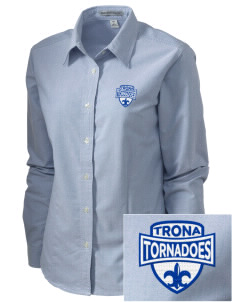 Trona Elementary School Tornadoes Embroidered Women's Classic Oxford