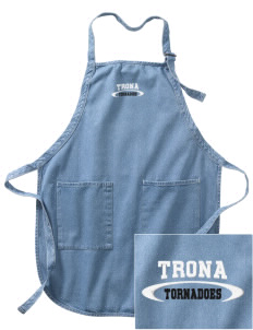 Trona Elementary School Tornadoes Embroidered Full-Length Apron with Pockets