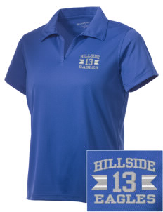 Hillside High School Eagles Embroidered Women's Double Mesh Polo