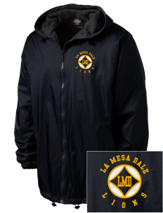La Mesa Dale Elementary School Lions Embroidered Dickies Men's Fleece-Lined Hooded Jacket