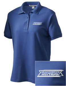 Meadowbrook Middle School Mustangs Women's Embroidered Silk Touch Polo