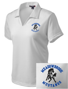 Meadowbrook Middle School Mustangs Embroidered Women's Dri Mesh Polo