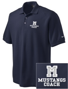 Meadowbrook Middle School Mustangs Embroidered Nike Men's Pique Knit Golf Polo