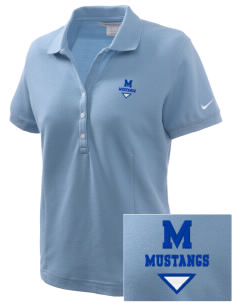 Meadowbrook Middle School Mustangs Embroidered Nike Women's Pique Golf Polo