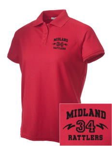Midland Elementary School Rattlers Embroidered Women's Technical Performance Polo