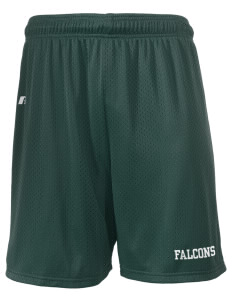 "Olive Elementary School Falcons  Russell Men's Mesh Shorts, 7"" Inseam"