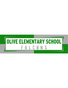 "Olive Elementary School Falcons Bumper Sticker 11"" x 3"""