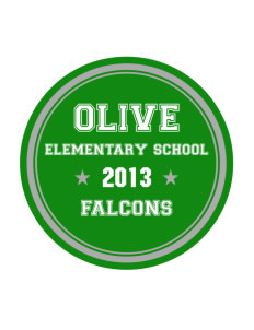 Olive Elementary School Falcons Sticker