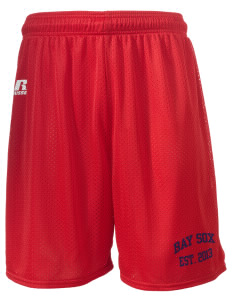 "Bay Sox Sox  Russell Men's Mesh Shorts, 7"" Inseam"