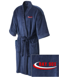 Bay Sox Sox Embroidered Terry Velour Robe